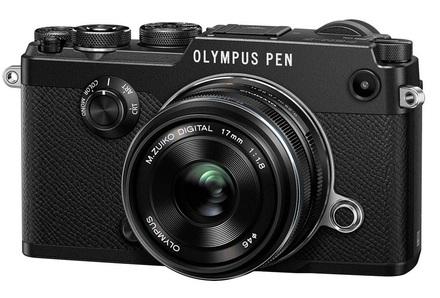 Olympus PEN-F + 17 mm černý