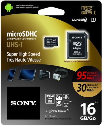 Sony Micro SDHC 16GB UHS-I Expert + Adaptér