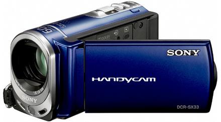 Sony DCR-SX33E modrá + 8GB karta zdarma!