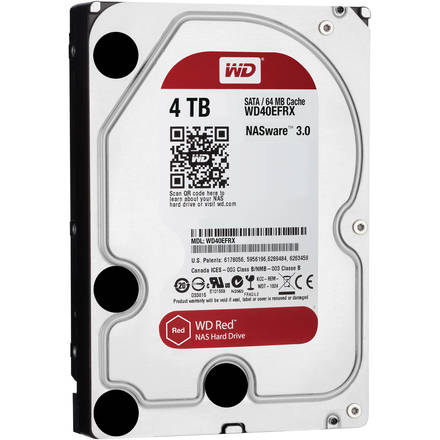 "Western Digital Red 4TB HDD, 3.5"" NAS WD40EFRX"