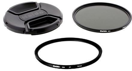 Haida set filtrů Slim (UV+C-POL) a krytky 55mm