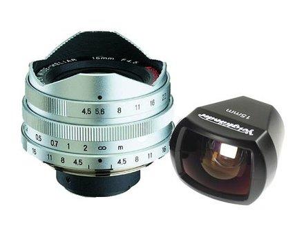 Voigtlander Super Wide Heliar 15 mm F 4.5 chrom pro M39 závit + hledáček