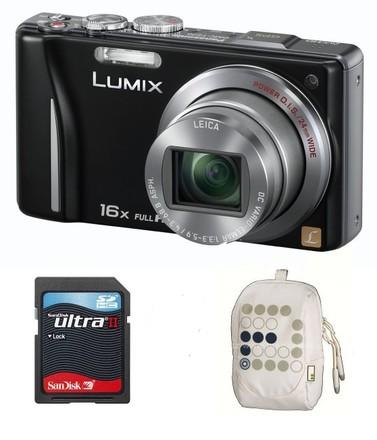 Panasonic Lumix DMC-TZ20 černý + 8GB Ultra + pouzdro 70J!