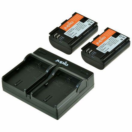 Jupio Kit 2x LP-E6 + USB Dual Charger pro Canon