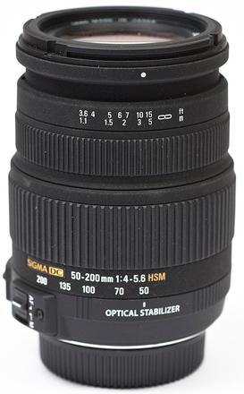 Sigma 50-200mm f/4,0-5,6 DC OS HSM pro Nikon