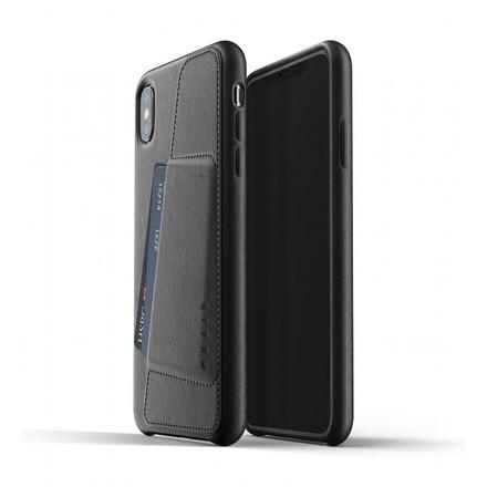 Mujjo kožené peněženkové pouzdro pro iPhone XS Max