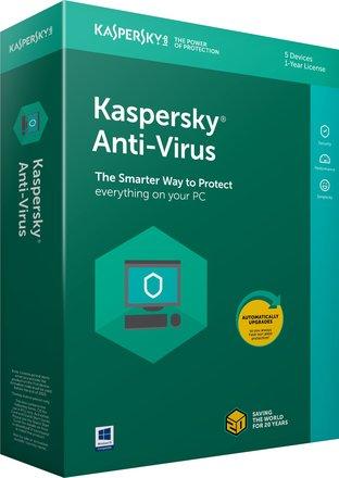 Kaspersky Anti-Virus 2018,1PC,1 rok - OEM karta