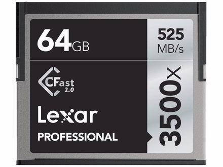 Lexar CFast 64GB 3500x Professional (VPG-130)