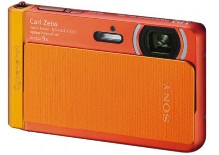 Sony CyberShot DSC-TX30 oranžový + 16GB karta + originální pouzdro + náhradní akumulátor!