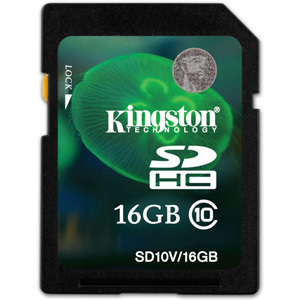 Kingston SDHC 16GB Class 10