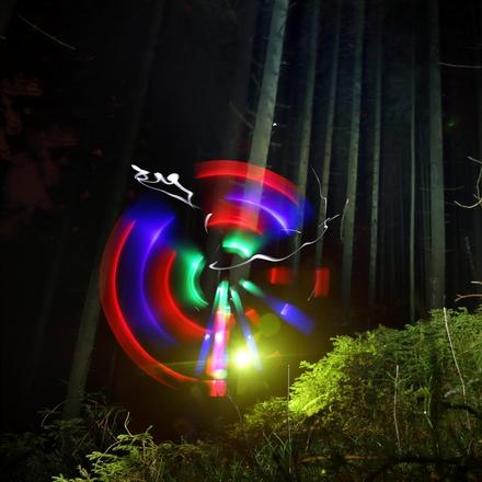 Malování světlem ve Stromovce