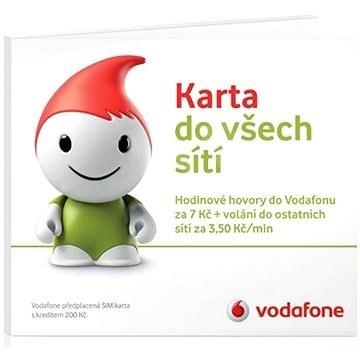Vodafone karta s kreditem 200 Kč + 150MB dat na půl roku zdarma!