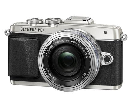 Olympus PEN E-PL7 + 14-42 mm f/3,5-5,6 EZ + 45 mm + odrazná deska + kniha stříbrný