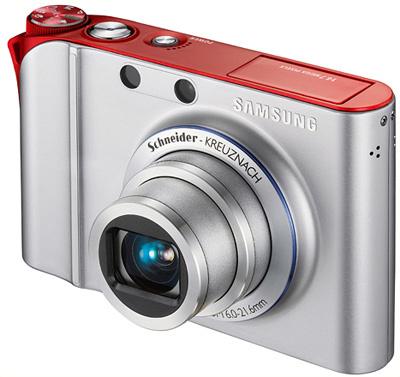Samsung NV100HD stříbrno-červený