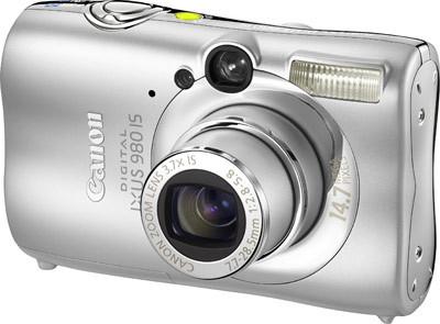 Canon IXUS 980 IS stříbrný