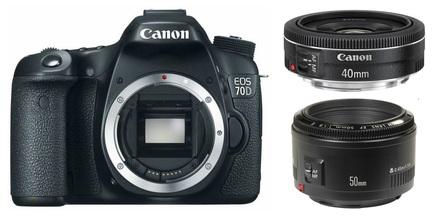 Canon EOS 70D + 40 mm + 50 mm Set pro Portrét/Reportáž