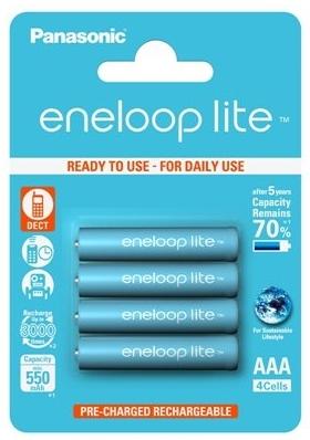 Panasonic Eneloop Lite AAA baterie 550 mAh 4 ks