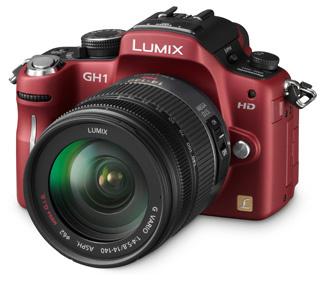 Panasonic Lumix DMC-GH1 červený + G VARIO HD 14-140 mm