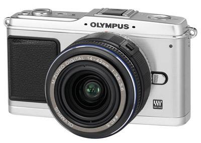 Olympus E-P1 stříbrný + 14-42 mm černý