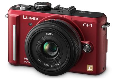 Panasonic Lumix DMC-GF1 červený + G Vario 14-45 mm
