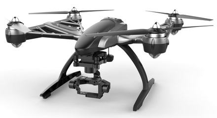 Yuneec Q500 G Typhoon + Gimbal GB203 pro GoPro + CGO Steady Grip