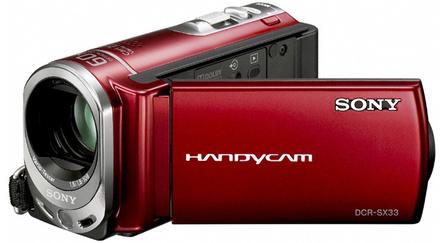 Sony DCR-SX33E červená + 8GB karta zdarma!