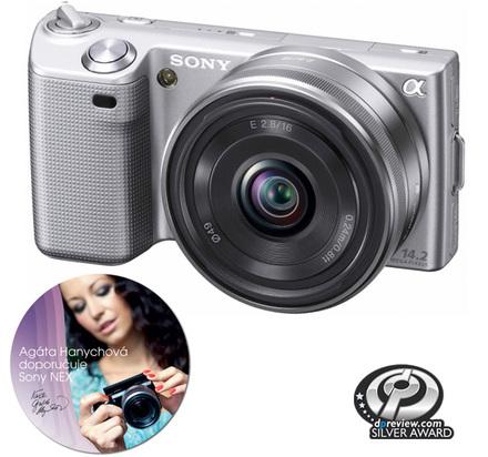 Sony NEX-5 stříbrný + 18-55 mm + 16 mm