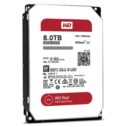 """Western Digital Red 8TB HDD, 3.5"""" NAS WD80EFZX"""
