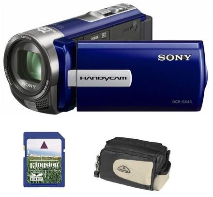 Sony DCR-SX45 modrá + 8GB karta  + brašna DFV40 zdarma!