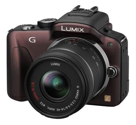 Panasonic Lumix DMC-G3 hnědý + 14-42 mm + 45-200 mm
