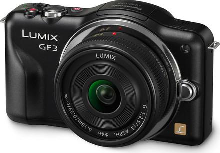 Panasonic Lumix DMC-GF3 černý + 14 mm