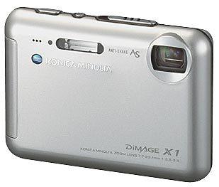 Konica Minolta DiMAGE X1 stříbrná + kožené pouzdro Hugo Boss