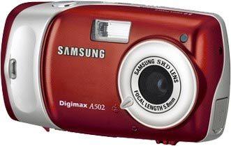 Samsung Digimax A502 červený