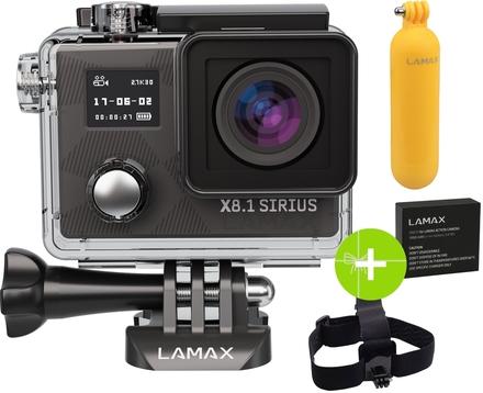 Lamax X8.1 Sirius + čelenka + plovák + extra baterie zdarma!