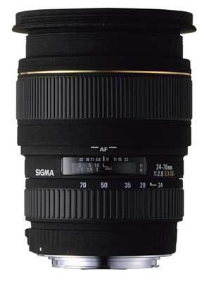 Sigma 24-70 mm F 2,8 EX DG MACRO pro Canon + utěrka Sigma zdarma!