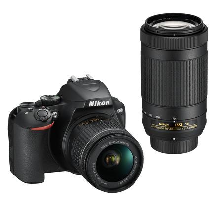 Nikon D3500 + 18-55 mm AF-P + 70-300 mm AF-P