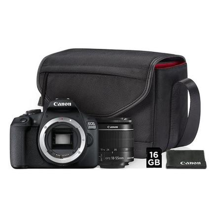 Canon EOS 2000D + 18-55 mm IS II Value Up! Kit