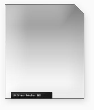84.5mm Classic 100mm ND filtr střední s jemným přechodem