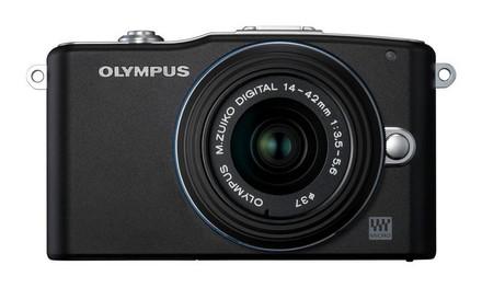 Olympus E-PM1 + 14-42 mm II R + 40-150 mm R černý