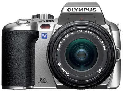 Olympus E-system E-500 SE Kit SILVER + 1GB CF karta + nabíječka a Li-Ion baterie zdarma!