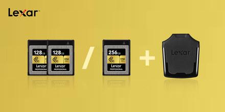 Pořiďte si rychlé paměťovky Lexar CFexpress se čtečkou zdarma