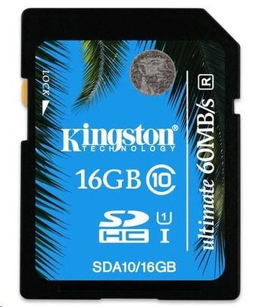 Kingston SDHC 16GB Ultimate Memory Class 10 UHS-I