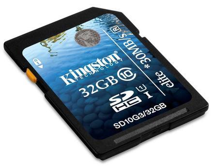 Kingston SDHC 32GB 30MB/s Class 10