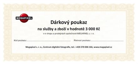 Dárkový poukaz v hodnotě 3 000 Kč