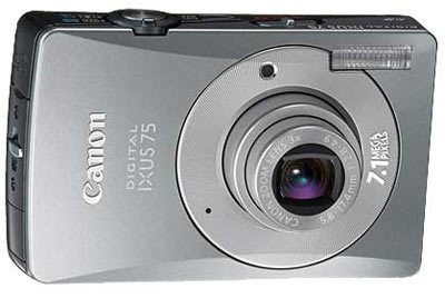 Canon IXUS 75 stříbrný