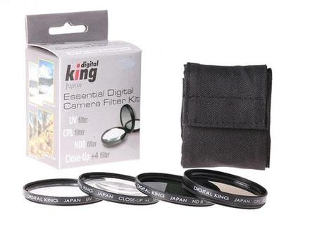 Digital King set filtrů UV + CPL + ND8 + makropředsádka 46mm