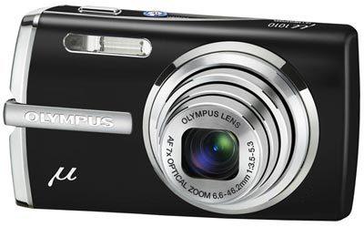 Olympus Mju 1010 černý + baterie + pouzdro + poutko + sada skinů v ceně 450 Kč zdarma!