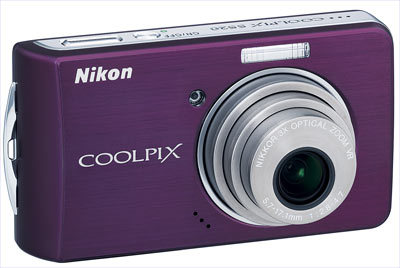 Nikon CoolPix S520 fialový + SD 2GB karta