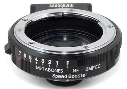Metabones Speed Booster 0.58x z Nikon G na Blackmagic Pocket Cinema Camera (BMPCC Micro 4/3)