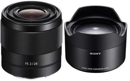 Sony FE 28mm f/2,0 + širokoúhlý konvertor SEL075UWC